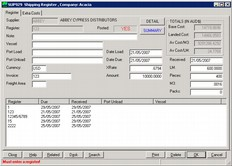 Timber Industry Software - shipping register
